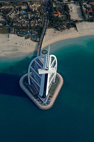 Burj Al Arab Birdseye View