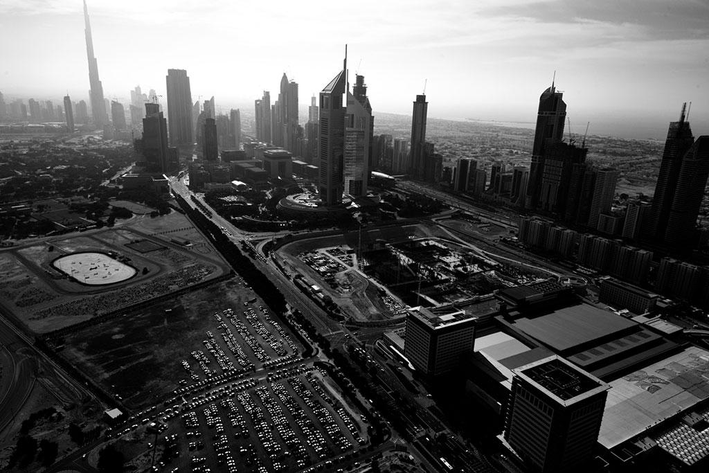 Dubai Skyline B&W